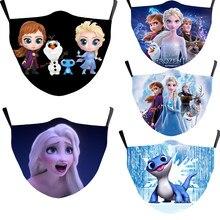 Masque buccal Disney reine des neiges, bonnets buccaux, masques faciaux Cosplay Anna Elsa Bruni, couverture de Protection lavable pour enfants et adultes, masques respirateurs