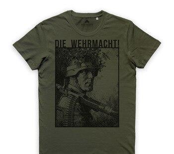 Print T Shirt Men Summer Style Fashion Die Wehrmacht T Shirt Heer Soldaten Infanterie Division Stahlhelm 032588 2017 latest men t shirt fashion i love beer meeple style t shirt tabletop board game rpg
