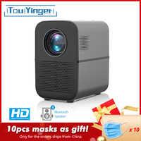 Proyector TouYinger HD LED T7 Bluetooth, 1280x720 compatible con Full HD proyector de vídeo para cine en casa, reproductor multimedia de películas de 3500 lúmenes