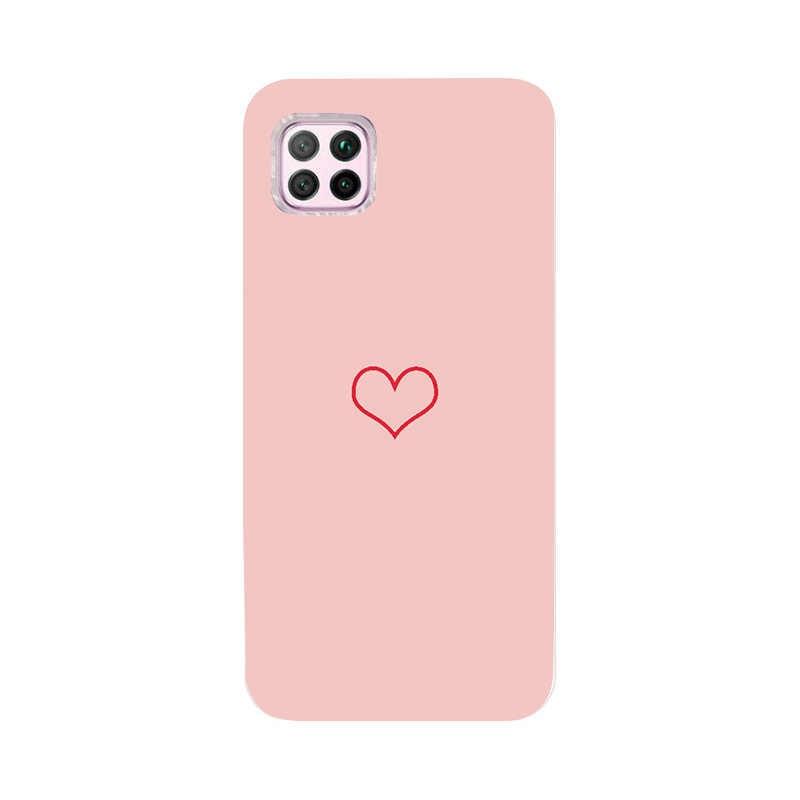 Coque untuk Huawei P40 Lite E P 40 Pro Case Silikon Kembali Menutupi untuk Huawei P30 Pro Lite Y6 y5 2018 P20 Lite P Smart 2019 Case