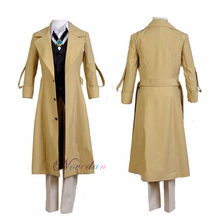 Cosplay Anime Costume Coat Jacket Stray Dogs Osamu Halloween Dazai Adult Suit Bungo Long