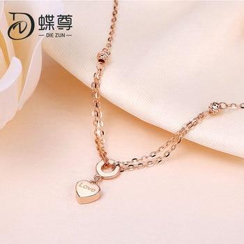 18K Gold Bracelet AU750 Lottery Gold Bracelet Footchain Rose Gold Bracelet Women Love Whisper 2