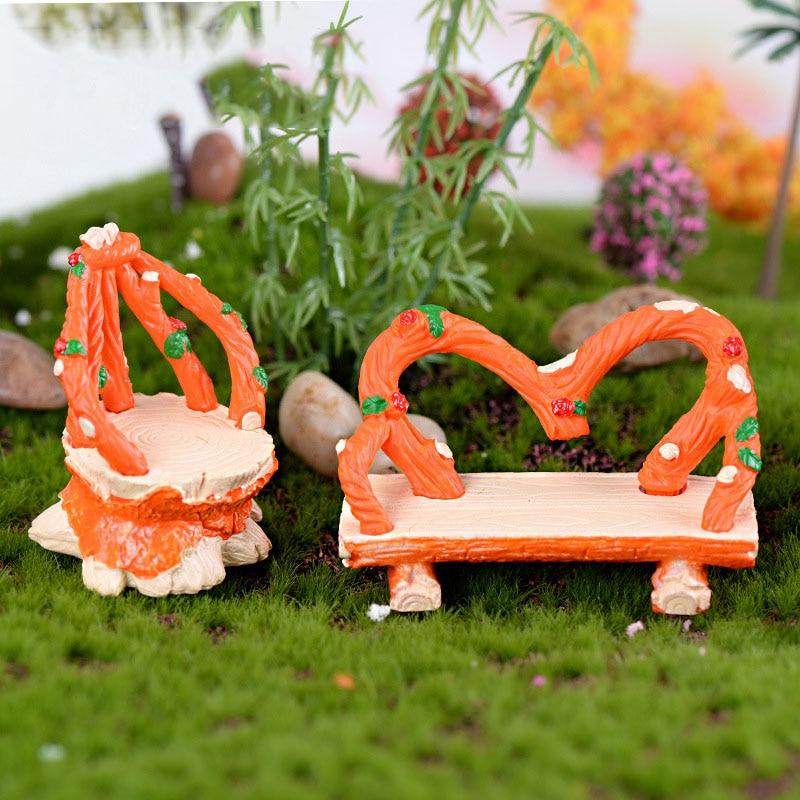 Mini Chair Home Decor Miniatures Fairy Garden Ornaments