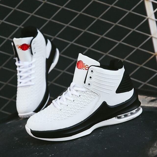 2019 nuevo De alta De los hombres zapatillas De baloncesto deportes clásicos zapatillas De hombre zapatillas entrenador grande De talla grande 36-47 hombres Chaussures De cesta De zapatos 5
