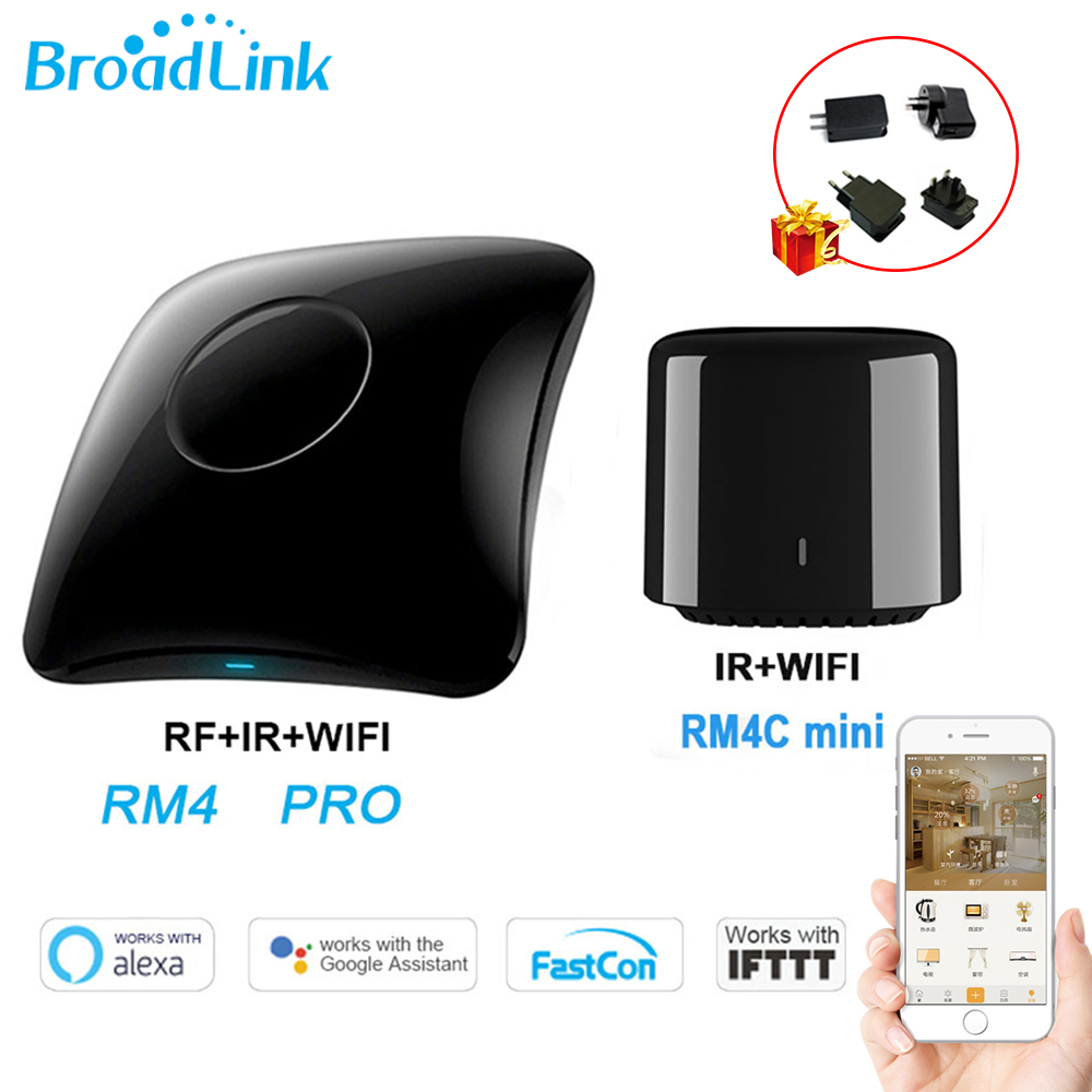 Broadlink RM4 Pro/Rm4C Mini WiFi IR 433mhz/315mhz RF Universal Remote Control Works With Alexa Google Home Smart Home Automation