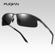 FUQIAN New Design Sports Sunglasses Men Vintage Rimless Outdoor