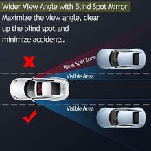 Car Blind Spot Rearview Mirror Convex Glass Wide Angle Rear view Auxiliary Mirror Parking Reference Mirror car accessories