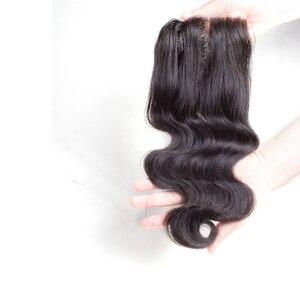 Image 4 - 브라질 바디 웨이브 헤어 번들 closure non remy blonde bundles with closure 1b/4/30 휴먼 헤어 옹 브르 번들