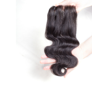 Image 4 - wholesale Body Wave 3 4 Bundles With Closure Peruvian Brazilian hair weave bundles with closure Human Hair Bundles With Closure