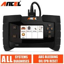 أداة تشخيص Ancel FX4000 OBD2 نظام كامل أدوات مسح السيارة نزيف ABS/خدمة النفط/EPB إعادة تعيين OBDII الماسح الضوئي للسيارات