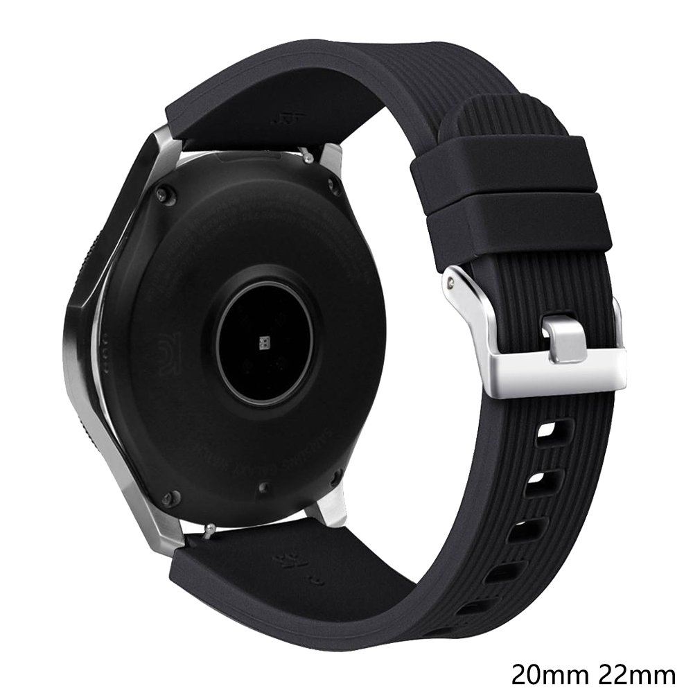 22mm Watch Band For Samsung Galaxy Watch 46mm/42mm Active 2 Strap Silicone Bracelet Belt For Amazfit Bip Huawei Watch GT2e 20mm