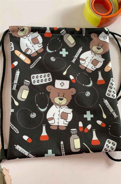 cartoon Mario / sonic print drawstring bag boys girls storage bags teenager casual backpack kids bookbag gift