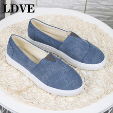 Fashion Women Loafers Vulcanize Shoes Canvas Sequins Sneakers Ladies Slip On Breathable Shallow Casual Flats
