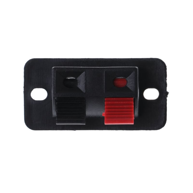 10 Pcs Speaker Terminal Plate Push Release Connectors 2-Way Posted