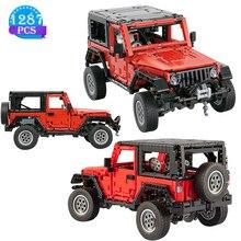 High-tech criativo fora de estrada modelo de carro esportivo blocos de construção veículo jeep estática educação das crianças brinquedos meninos presentes de aniversário