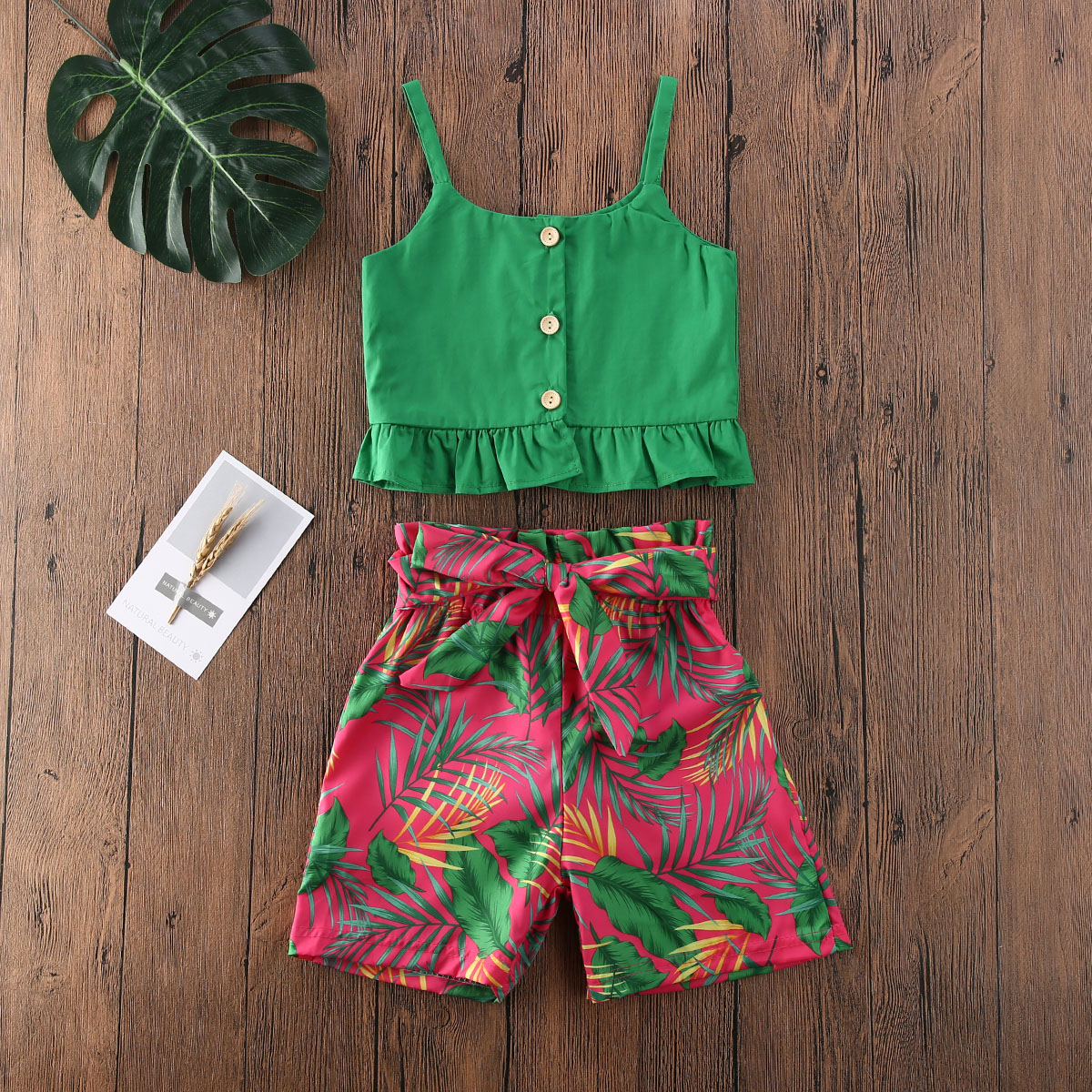 Specialcal Toddler Baby Girls Pineapple Floral Print Off Shoulder Ruffle Pleated Dress Sling Dress