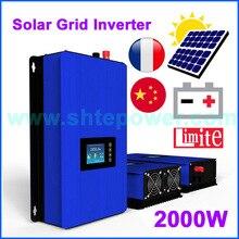 2000ワットバッテリー放電電力モード/mpptソーラーインバータと2KWリミッタセンサーdc 45 90 12v ac 220v 230v 240v pv接続