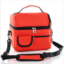 2 Layers Insulated Cooler Bag Thermal Lunch Box Picnic Food Storage Tote Wholesale Bulk Lot Accessory Supply Product