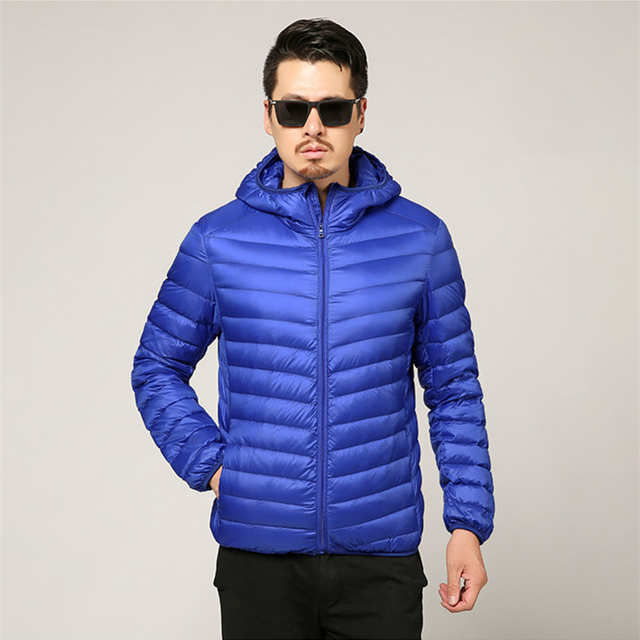 Men's All-Season Ultra Lightweight Packable Down Jacket Water and Wind-Resistant Breathable Coat Big Size Men Hoodies Jackets 4