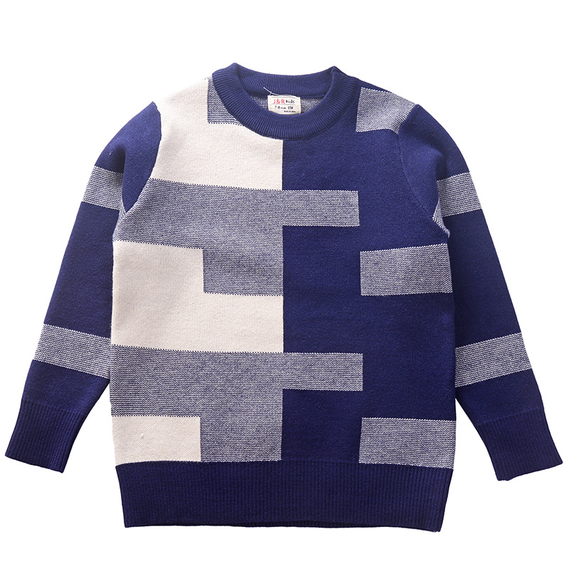 for 150-190cm height big boy teenagers winter sweaters autumn spring cotton kids pullover children's clothing