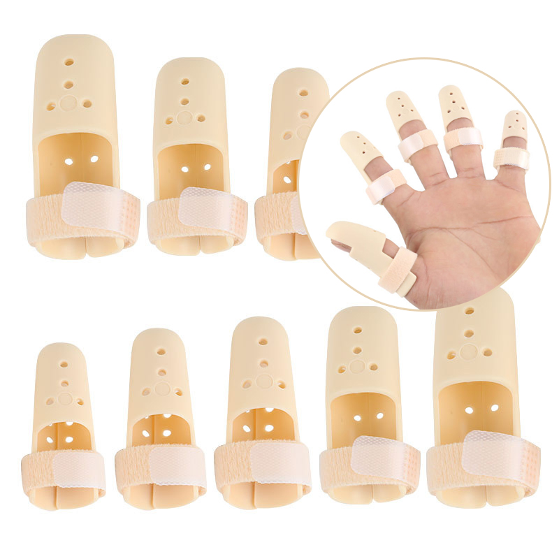 5pcs/lot Finger Splint Brace Splint Joint Pain Arthritis Support Plastic Finger Support Protector Posture Corrector Foot Care