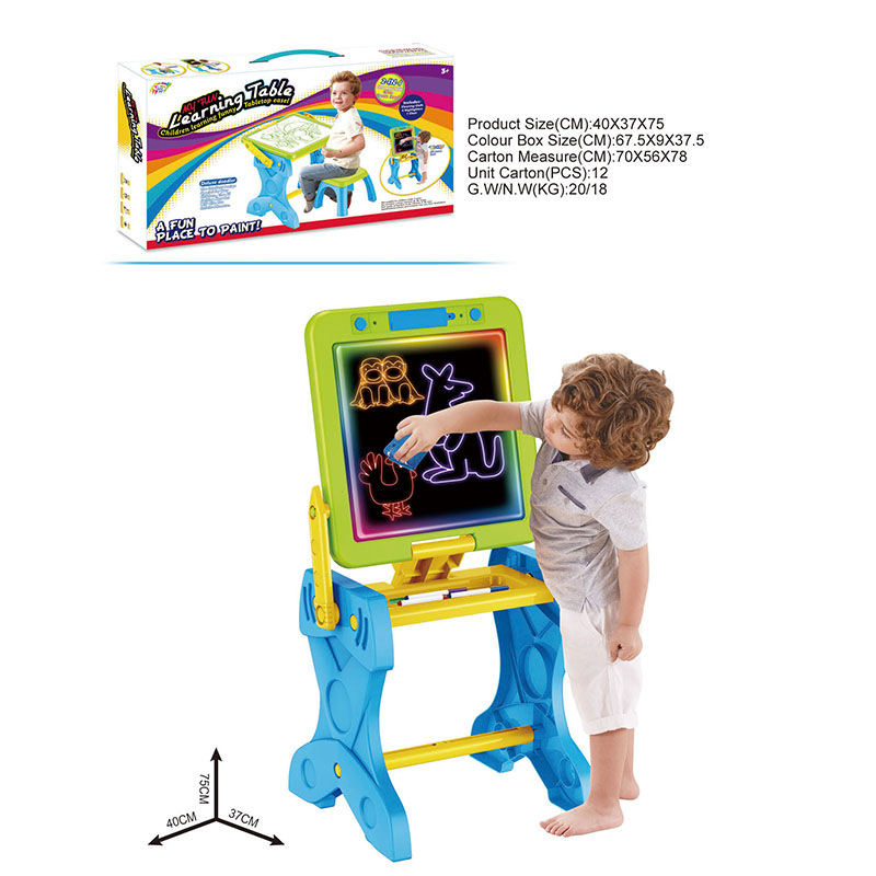 Hot Selling Multi-functional Fluorescent Drawing Board Baby Painting Toy Baby Play House Showing Stand