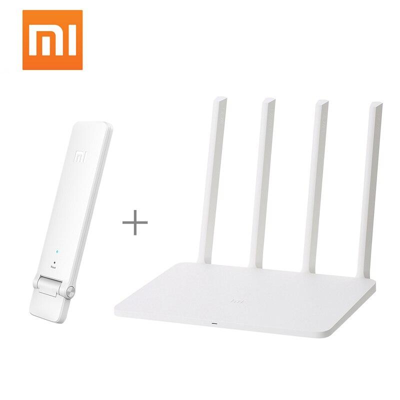 No USB Xiaomi MI WiFi Wireless Router 3G 1167Mbps Wi-Fi Repeater 2.4G 5GHz Dual Band 128MB 256MB 4 Antennas Mi Wifi APP Control