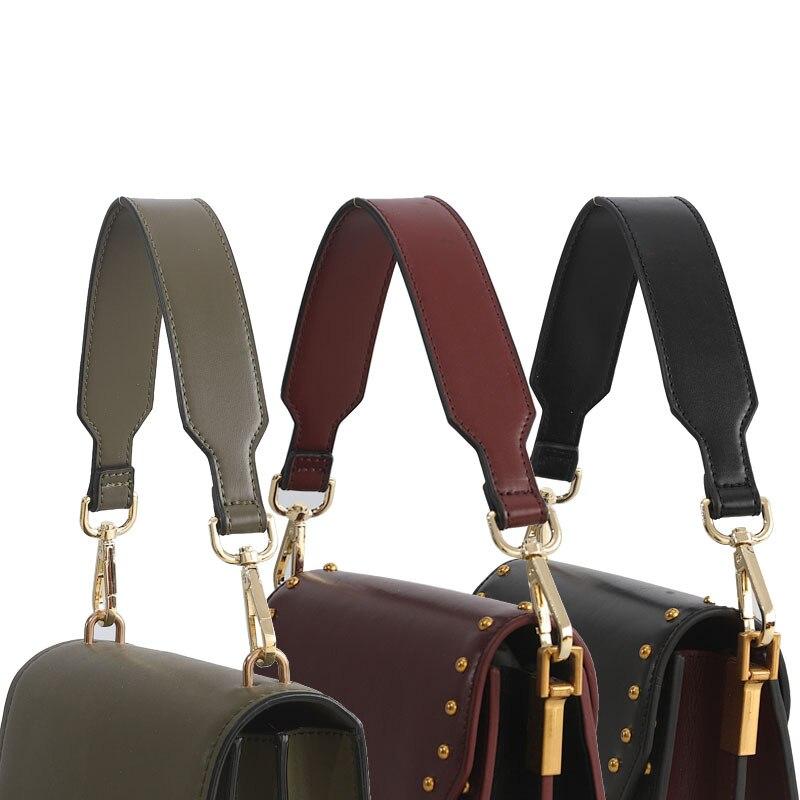 Mode cuir PU courte bandoulière 41cm sac à main poignée 3.5cm large sac poignées bricolage remplacement couleur unie femme sac sangle