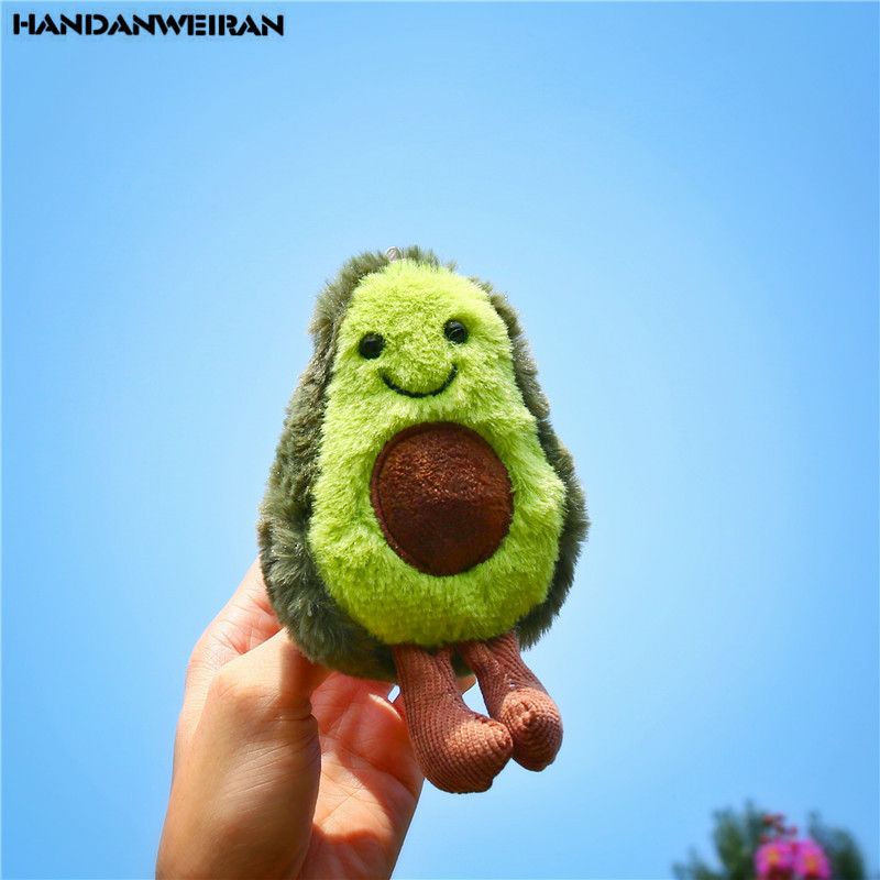 1 PCS New 13CM Cute Avocado Doll Pendant Toy Christmas Gift Small Plush Toys Pendant Girls&Boys&Childs Holiday Gift HANDANWEIRAN