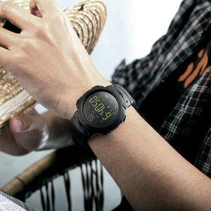 Image 2 - 2 ألوان الذكية الرياضة في الهواء الطلق مقاوم للماء المرأة ساعة اليد الرقمية بلوتوث التقاط الصور التطبيق معلومات تذكير