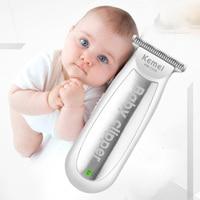 Kemei Mini Elektrische Haar Trimmer Baby USB Aufladbare Haar Clipper Infant Ruhig Rasierer Kinder Haarschnitt Rasiermesser Haar schneiden maschine-in Haar-Trimmer aus Haushaltsgeräte bei