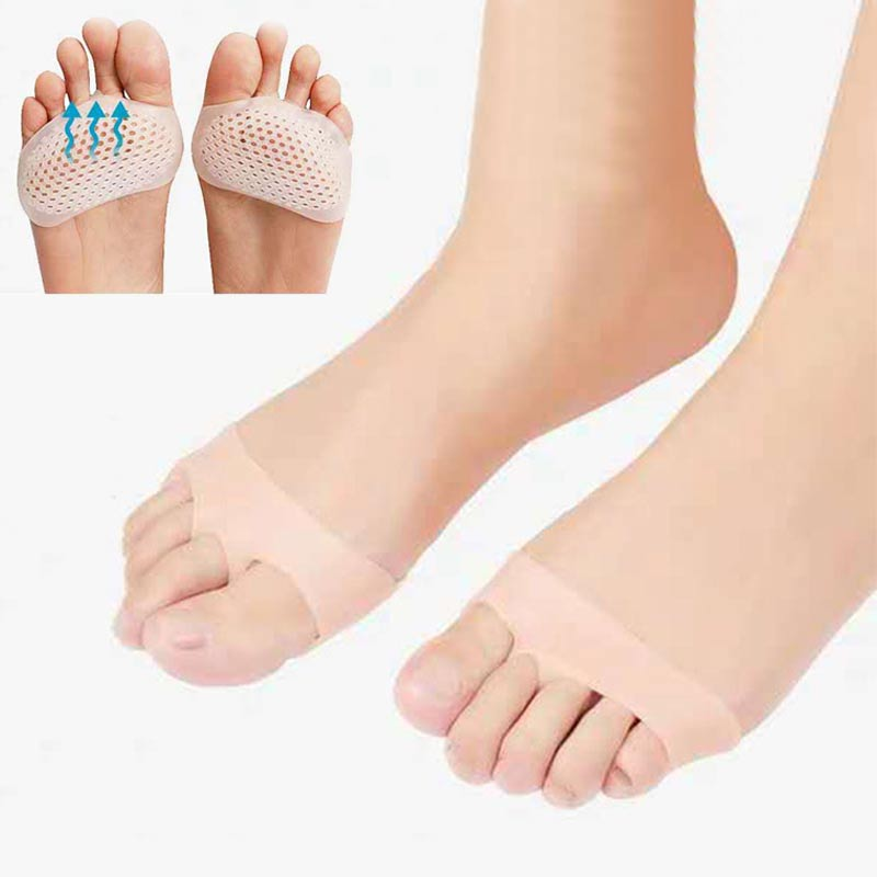 Fashion 1pair Silicone Soft Pads High Heel Shoes Non-Slip Protect Pain Relief Feet Care Forefoot Half Elle Invisible Gel Insoles