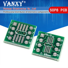 20Pcs TSSOP8 SSOP8 SOP8 Om DIP8 Pcb Sop-8 Sop Transfer Board Dip Pin Board Toonhoogte Adapter(China)