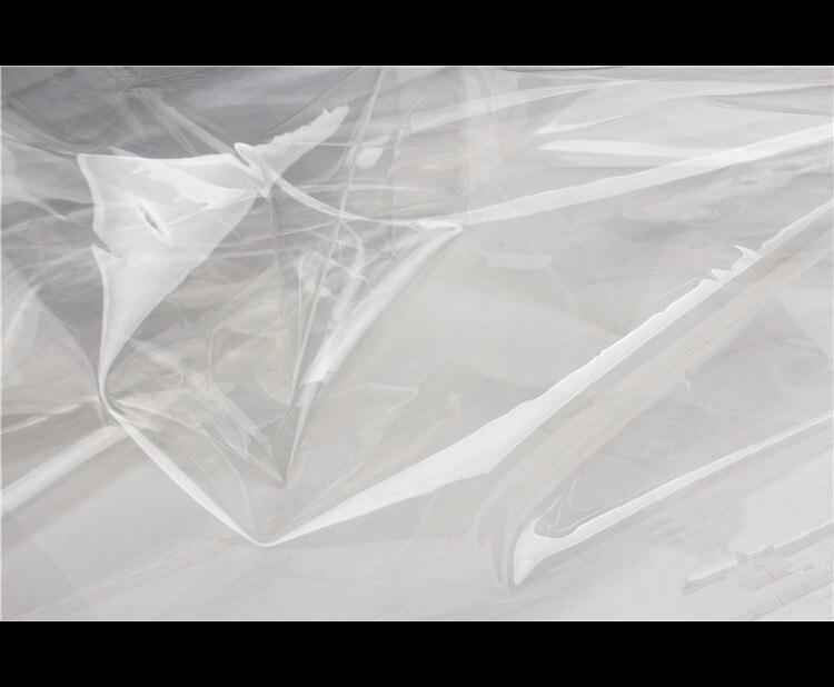0,1mm PVC Ultra-transparente TPU tela Super-perspectiva ropa rompevientos impermeable fino cristal envuelto plástico paño Cubierta de la silla del brazo inclinado de tela de terciopelo Real tamaño grande XL Wing bakc King cubiertas de la silla trasera fundas de asiento para el banquete de la fiesta del Hotel