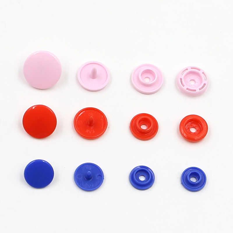 50 zestaw/worek T3 T5 T8 kolor plastikowy guzik zatrzaskowy zatrzask ubrania dla dzieci ciemna klamra guzik dla niemowląt płaszcz przeciwdeszczowy przycisk