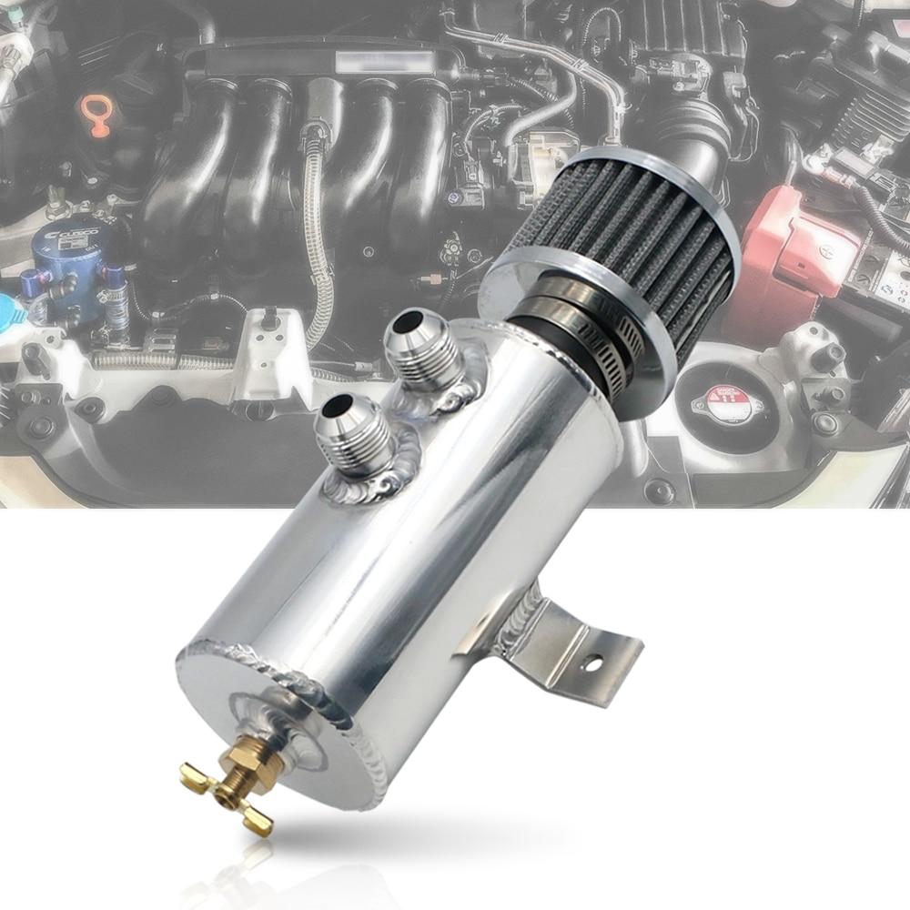 AN10 bouchon d'huile en alliage d'aluminium poli peut réservoir réservoir/réservoir d'huile avec filtre de reniflard pièces de rechange de voiture