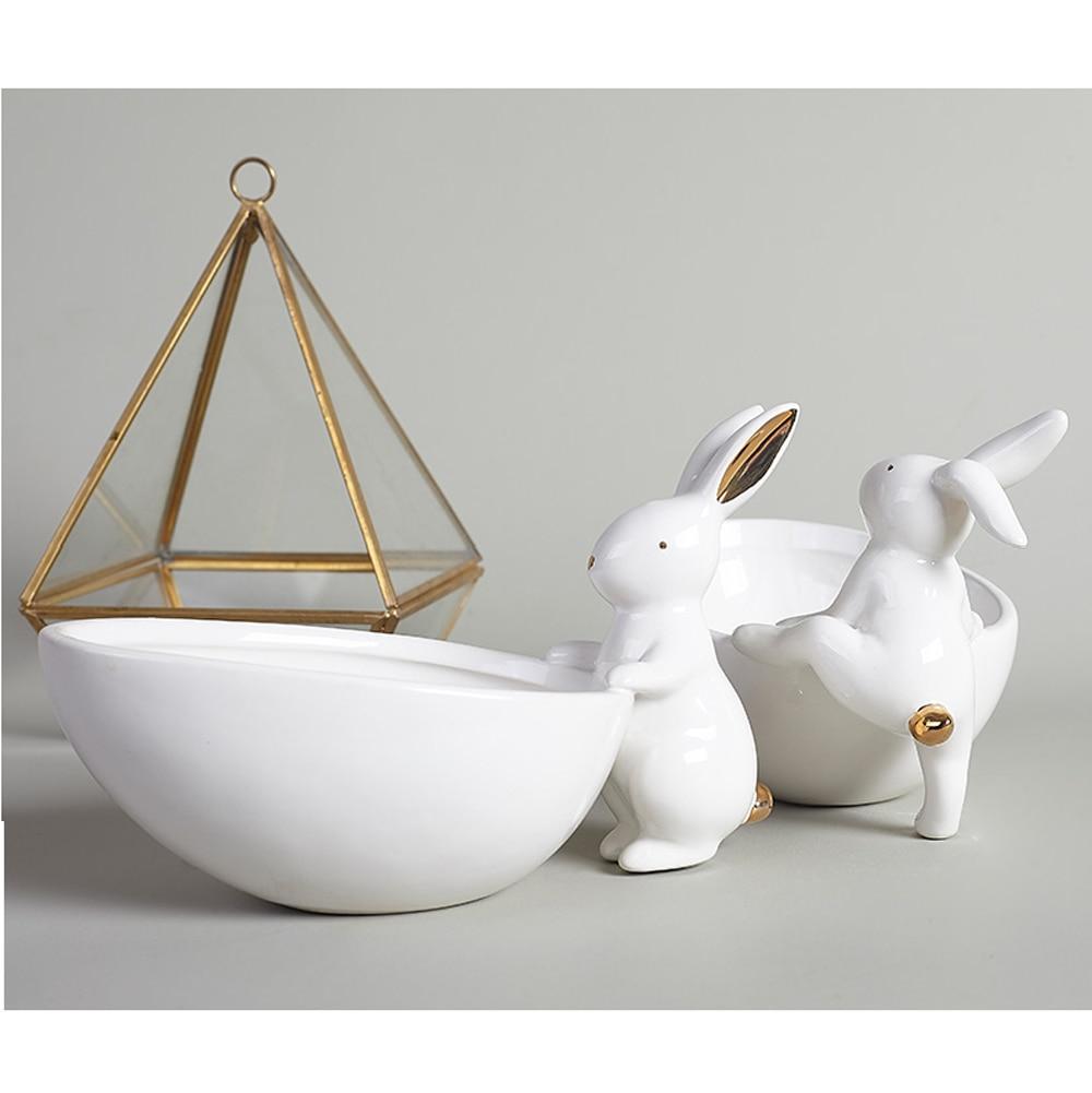coelho retrato presente e artesanato ornamento para cigarro cinza e jóias