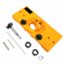 35Mm Concealed Hinge Jig Boring Hole Drill Guide +Cutter Bit Set +F Clip for Kreg System