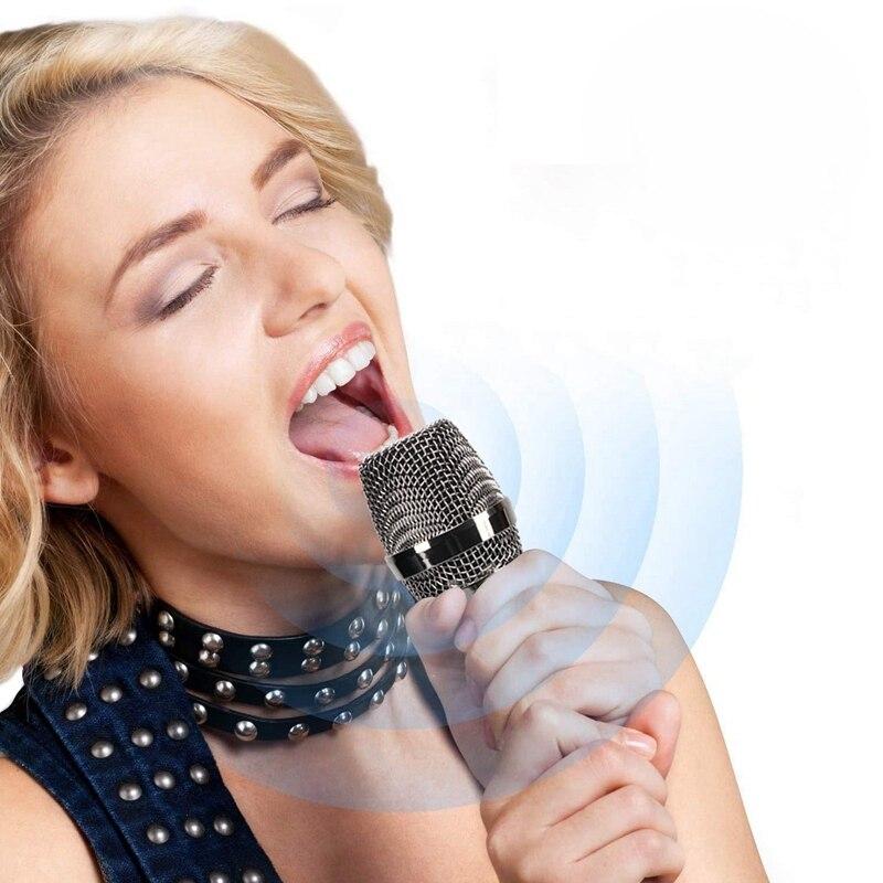 metal dinâmico microfone sem fio com receptor usb para discurso de reunião