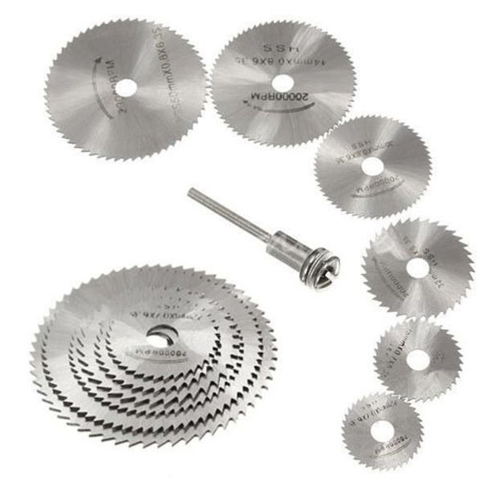 High Speed Steel Cutting Saw Blade Cutting Disk Silver 7pcs Electrical Accessories Multi Tool Finisher Grinding Sanding