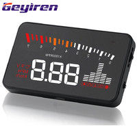 Car HUD Head up Display General Digital Projector OBD Windshield Speed Projector Car Electronics Security Alarm System X5