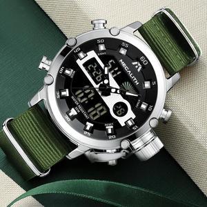 Image 3 - MEGALITH Sport Casual zegarki mężczyźni Luminous wodoodporne mężczyźni Top marka luksusowe data LED analogowy zegarek kwarcowy zegar Relogio Masculino