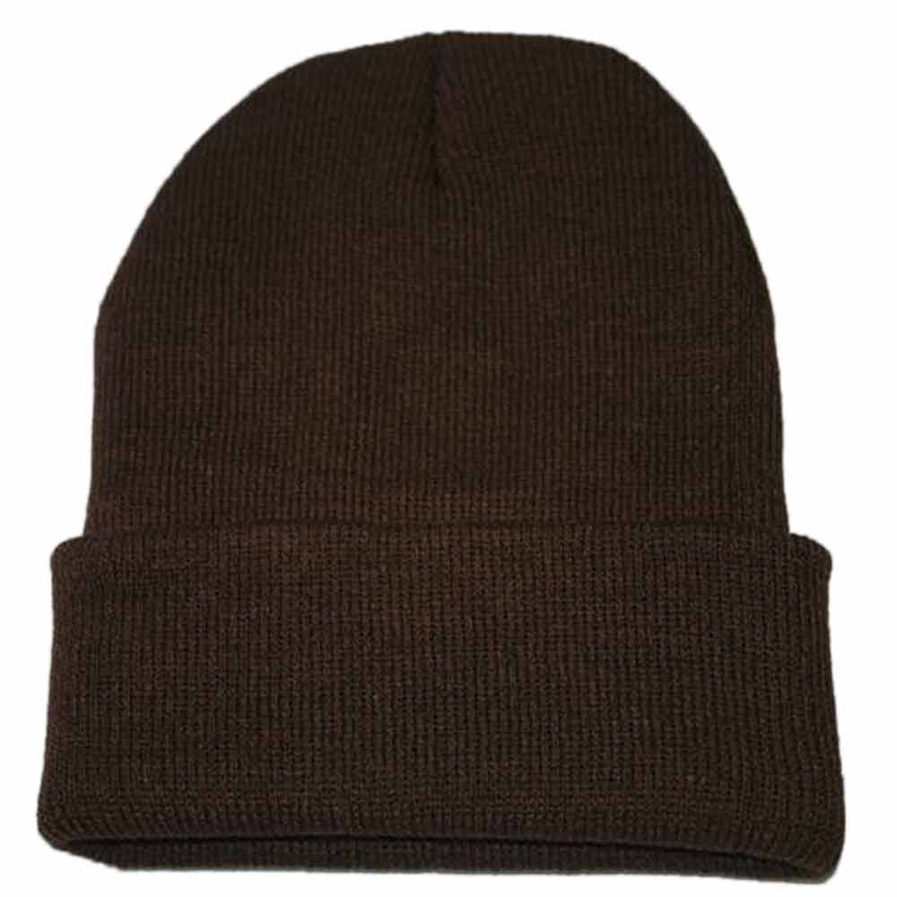 Unisex Slouchy Knitting Beanie Hip Hop Cap Women Men Winter Warm Casual Ski Hat Female Men Solid Fashion Hat 2019