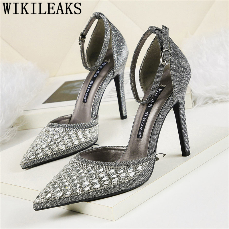 rhinestone heels fashion mary jane shoes high heels elegant shoes for woman escarpins <font><b>sexy</b></font> <font><b>hauts</b></font> <font><b>talons</b></font> <font><b>chaussure</b></font> mariage femme image