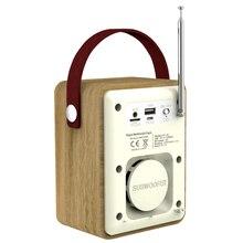 Цифровой радио Aux Многофункциональный MP3 плеер FM портативный стерео DAB часы динамик Bluetooth 5,0 Ретро ЖК-дисплей TF слот для карт