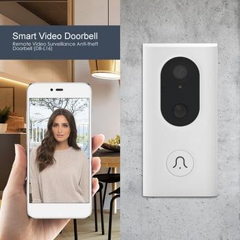 Home Smart WiFi Video Doorbell Voice Intercom PIR Human Induction Jingle Bell Camera Visual Night Vision Door Bell