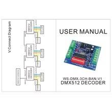 3CH DMX512 Decoder Board RGB Control Board LED