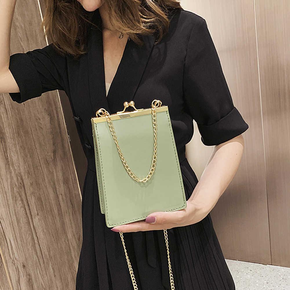 Taschen حمل Tasche بولسا الأنثوية المرأة مصغرة سطح لون ساخن قبلة قفل إغلاق سلسلة حقيبة كتف حقيبة كروسبودي