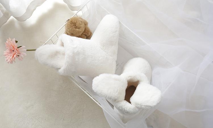 H8c67d20b67194547b0dd1bcc38731462Y Pantufa Botas quentes de pelúcia inverno mulheres pijamas cosplay sapatos de fantasia chinelos de coelho casa indoor botas mulher dos desenhos animados sapatos femininos