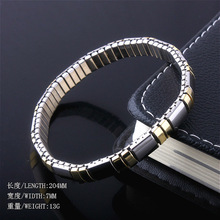Bangle Bracelet Italian Charms Personality Jewelry Chain-Style Elasticity Stainless-Steel